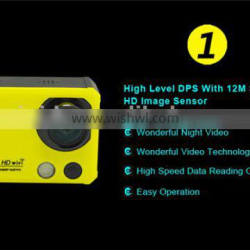 Time Lapse Recording 1920x1440P@30FPS & 1920x1080P@60FPS 2K WIFI Action Camera with 2.0INCH 960*240 dot High Definition LCD