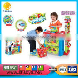 Luxury Home trolley bags supermarket Toys Combination For Kids supermarket push cart