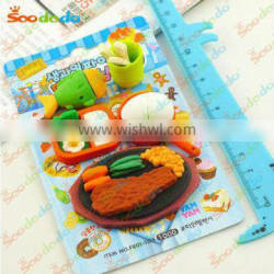 Funny free food erasers