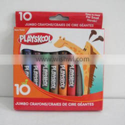 10 various colors non-toxic and multipurpose wax crayon