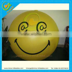 Outdoor inflatable helium balloon for advertisement