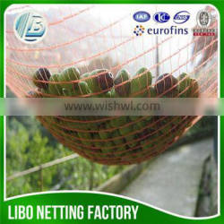 agriculture collecting plastic olive net