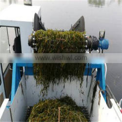 Garbage Collecting Boat Weed Harvester