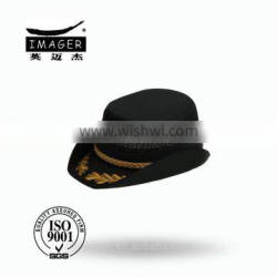 High Quality Golden Embroidery Badge Air Defence Forces Brigadier General Bucket Cap with Gold Strap for Women