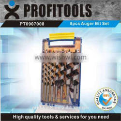 8pcs high quality auger drill bit kit for drilling wood