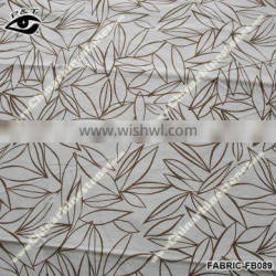 Simple Leaf Printed Fabric Linen Fabric