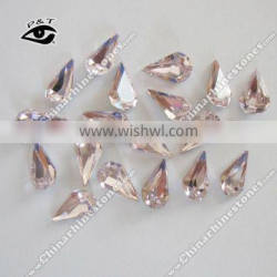 6x10MM teardrop baby pink color fancy stone BUT4300