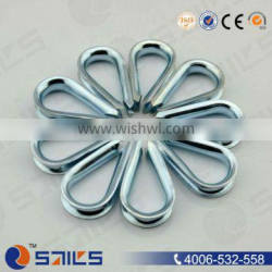 high quality stainless steel aisi304/316 us type wire rope thimble with high polished surface