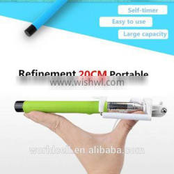 2015 New Style Colorful Portable Flexible Selfie Monopod With High Quality Stick, Foam Handholder And Updated Mount