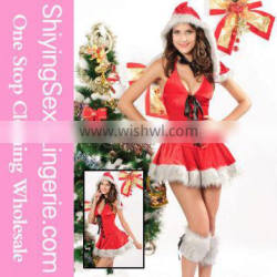 Cheap Wholesale 3 Piece Lil Red Riding Hood Women Holiday Christmas Costume