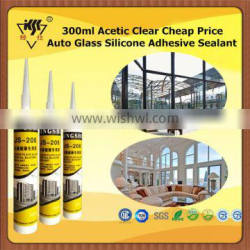 300ml Acetic Clear Cheap Price Auto Glass Silicone Adhesive Sealant