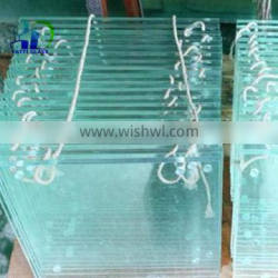 6mm 8mm 10mm 12mm tempered glass with punch wholesale