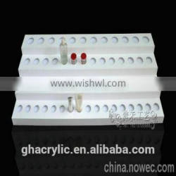 white color cosmetic display, acrylic makeup organizer