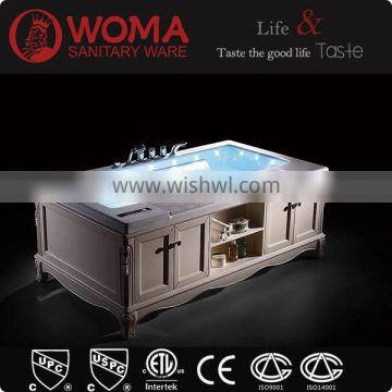 FOSHAN Manufacturer Solid Wood Skirk Acrylic Bathtub Cheap Wood Bathtub Price