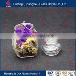 Long Exported Clear Empty Glass Bottle for Storage