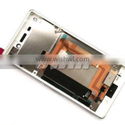 for Sony Xperia M4 Aqua Dual LCD assembly with frame White