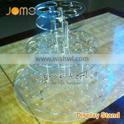 Ecig Stands wholesale ecig display stand clear acrylic ego battery holder Exhibition display stands