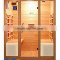 4 person big home use sauna room soft heat infrared sauna