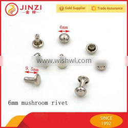 Factory direct price metal garment accessories mushroom rivets Quality Choice