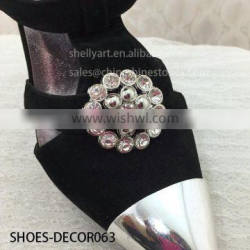 Wholesales Silver China hot sale decorative boot accessories metal lady shoes buckle