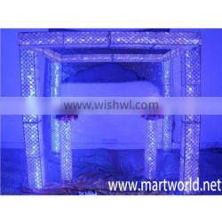 High quality lighting crystal mandap for wedding events&party