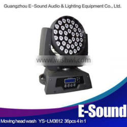 36x10w rgbw 4in1 leds customized professional 36x10w wash led moving head zoom