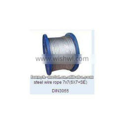 hot sell steel wire rope 7x7(6x7+SE)