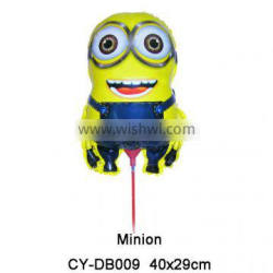 2016 New arrival Minion shape foil balloon big cupstick helium balloon for party decoration