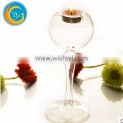 tall clear glass candle holder for wedding decor factory price