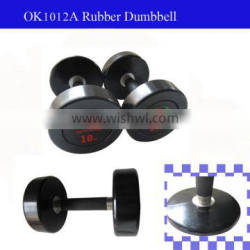 Black Rubber round dumbbell Set