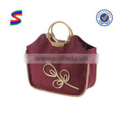 Jute Bag For Tea Jute Bags With Leather Handles