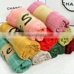 plain scarf with gift paking handkerchief promotion gift scarf
