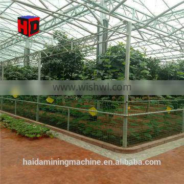 Multi-span garden flower polycarbonate greenhouse for sale