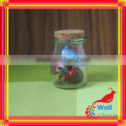 glass bottle for food tea glass storage jar glass food storage containe with cork lid