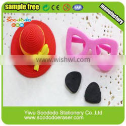 Cool 3D slipper shaped rubber puzzle eraser promotional