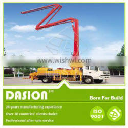 DSTP-37 hydraulic truck mounted concrete boom pump for sale