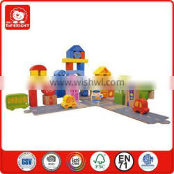 Hot new products for 2015 for children 55 pcs city blocks kids interlocking building block EN71 Approval