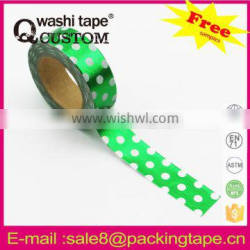 Plastic hot sale foil washi tape made in China