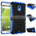 Heavy duty TPU and plastic combo hybrid case for Motorola Moto X Play