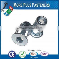 Made in Taiwan Carbon steel and Stainless Steel Customer request Threaded Jack Nut