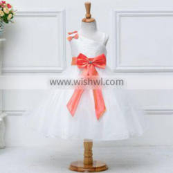 2016 new model sppliqued boutique kids cloth night dress in nude girls
