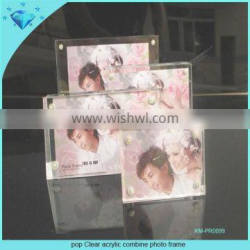 Pop Clear acrylic combine photo frame