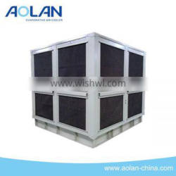 Evaporative roof air conditioner for cooling