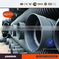 DN300 sn8 plastic culvert black hdpe corrugated pipe for drainage