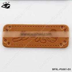 PU leather labels for handmade purse bags jeans pu patch labels