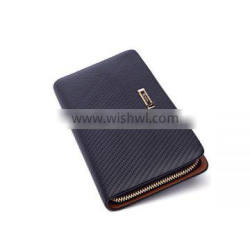New product genuine leather branded simple clutch purse