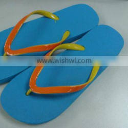 hot selling 2 tone strap basic beach rubber flipflop for women