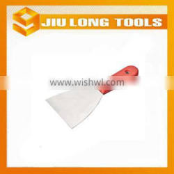 Carbon steel construction putty knife with plastic handle
