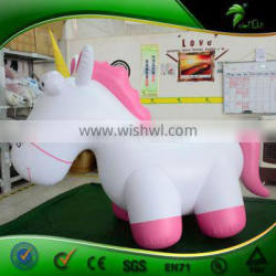 Inflatable Unicorn Princess Toys for Kids Inflatables 3 D Cartoon Character Moon Horse Decoration Dolls