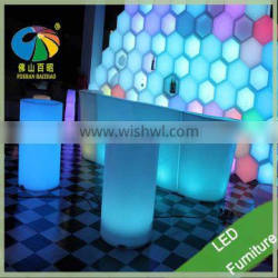 Plastic 16 Color Changing Club LED Bar Counter